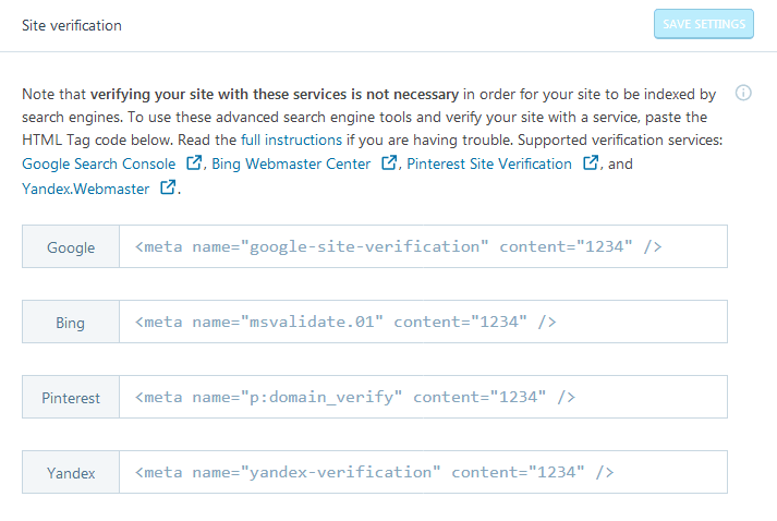 Jetpack plugin site verification for adding codes to the WordPress header