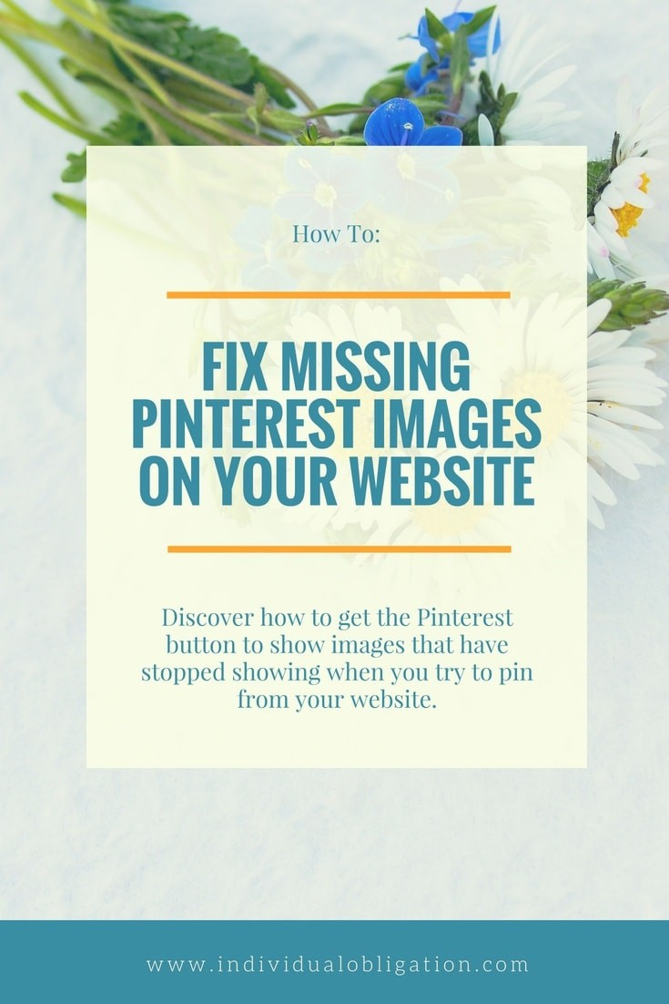 How to fix missing pinterest images on your website