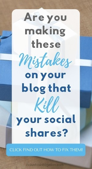 Are you making these mistakes on your blog that kill your social media sharing?