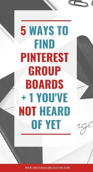 5 ways to find pinterest group boards + 1 you've not heard of yet