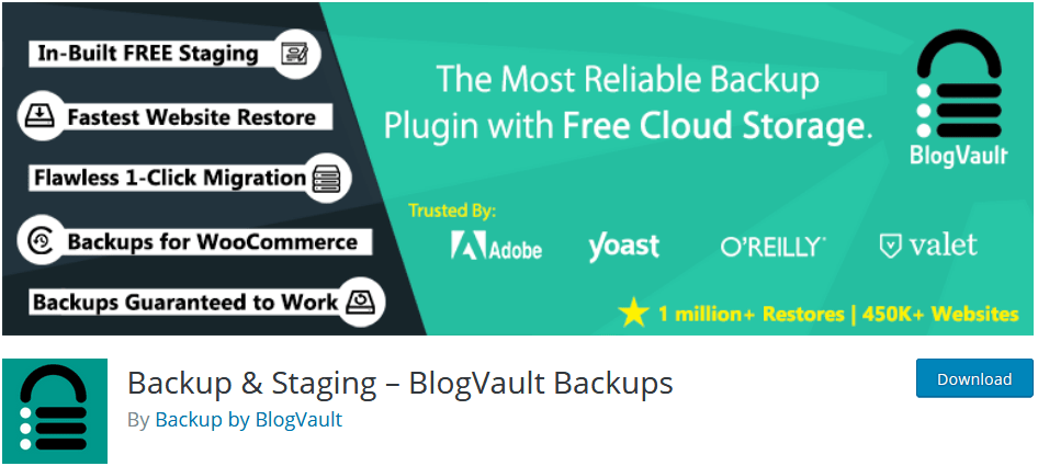 Blog Vault WordPress Backup Plugin With Backup And Staging Features