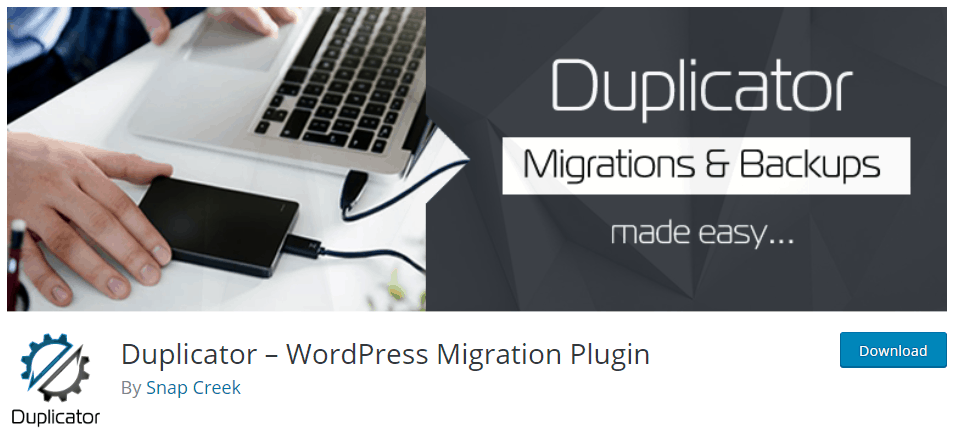 Wordpress Backup Plugin And Migration Tool Duplicator
