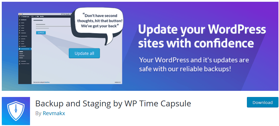 Wordpress Backup Plugin Wp Time Capsule Download Page