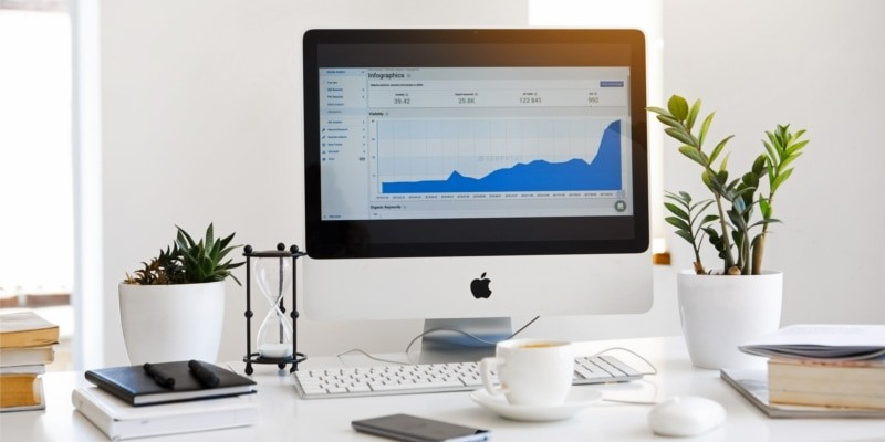 Why start a blog? Header image of business growth and analytics