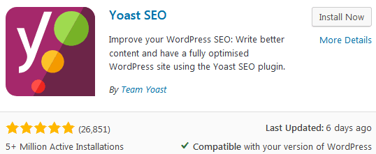How To Install The Yoast Seo Plugin From The Add New Plugins Screen In The WordPress Dashboard
