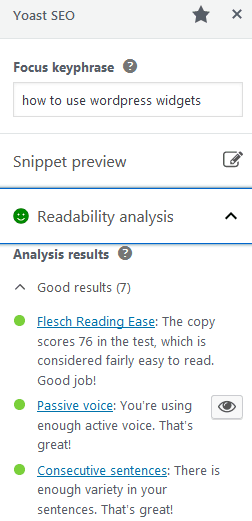The WordPress Yoast Plugins Readability Analysis Feature