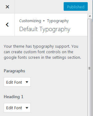 Adding Custom Fonts To WordPress Using The Easy Google Fonts Plugin To Create Typography Menu In The Customizer