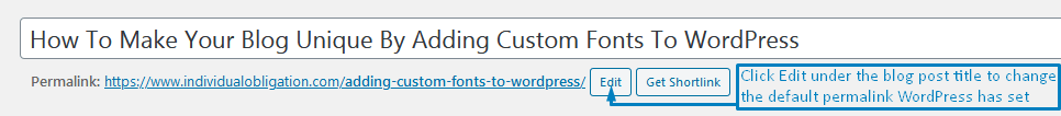 How To Change Permalinks In WordPress Classic Editor Using The Edit Button