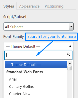 Where To Search For WordPress Fonts To Add Within The Easy Google Fonts Plugin