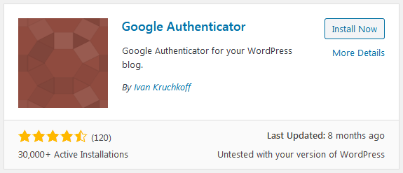 Wordpress Two Factor Authentication Plugin Google Authenticator Install Option