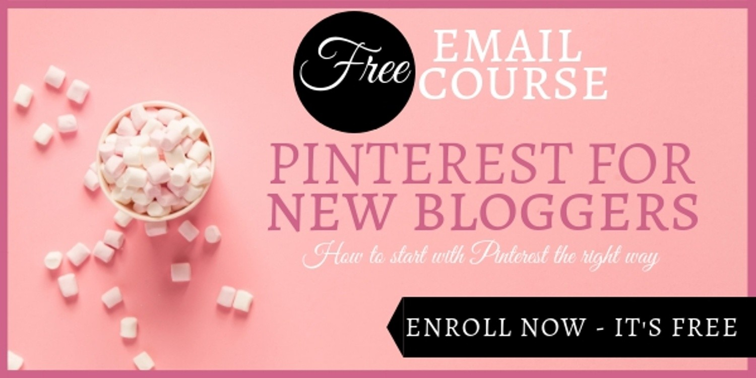 Pinterest For New Bloggers Free Course Banner