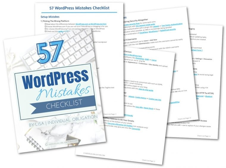 Wordpress Mistakes Cheatsheet + Checklists Preview