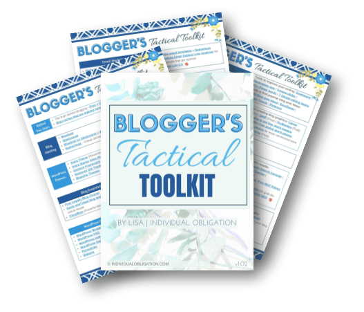 Layflat Printables Blogger's Tactical Toolkit