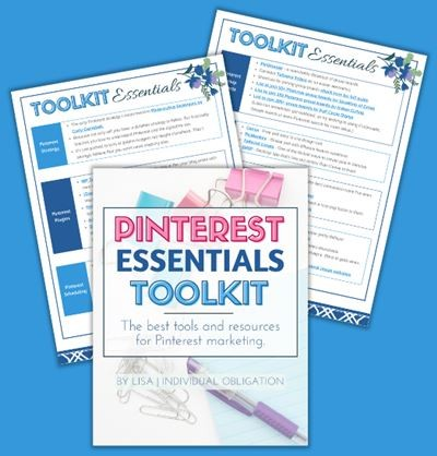 Pinterest Essentials Toolkit Bundle Blue Bg