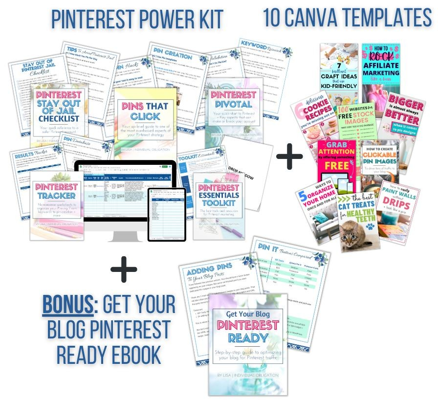 Pinterest Power Kit Blog Bundle Your Ultimate Resource For Blogging For Money An