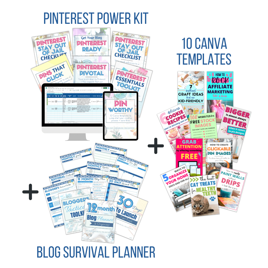 Survive And Thrive Blog Bundle Your Ultimate Resource For Blogging For Money And Getting Traffic Mockup White Bg