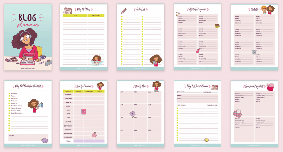 Best Blog Planner Stray Curls