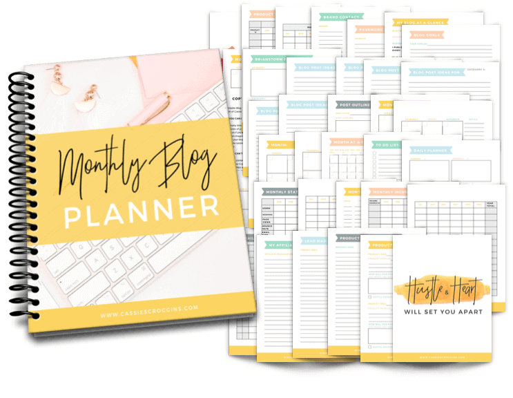 Cassie Scroggins Best Blog Planner Printable