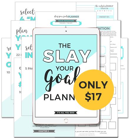 Slay Your Goals Blog Planner