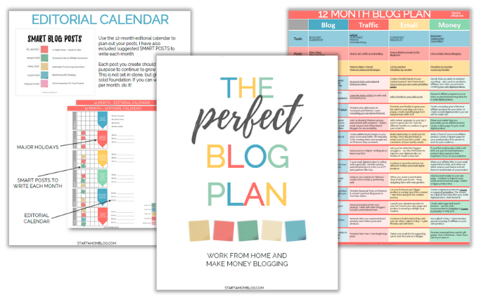 Start A Mom Blog Planner Preview