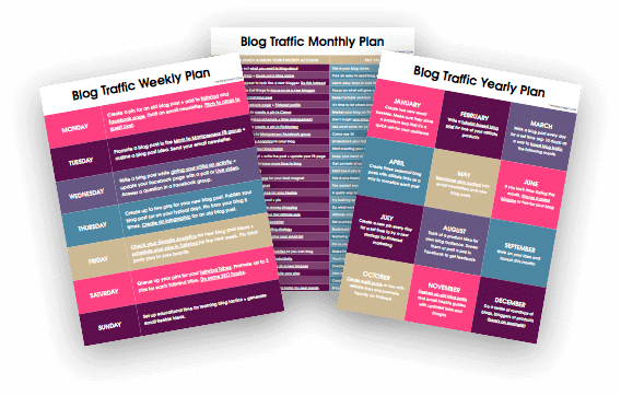 Twins Mommy Blog Traffic Planner Freebie